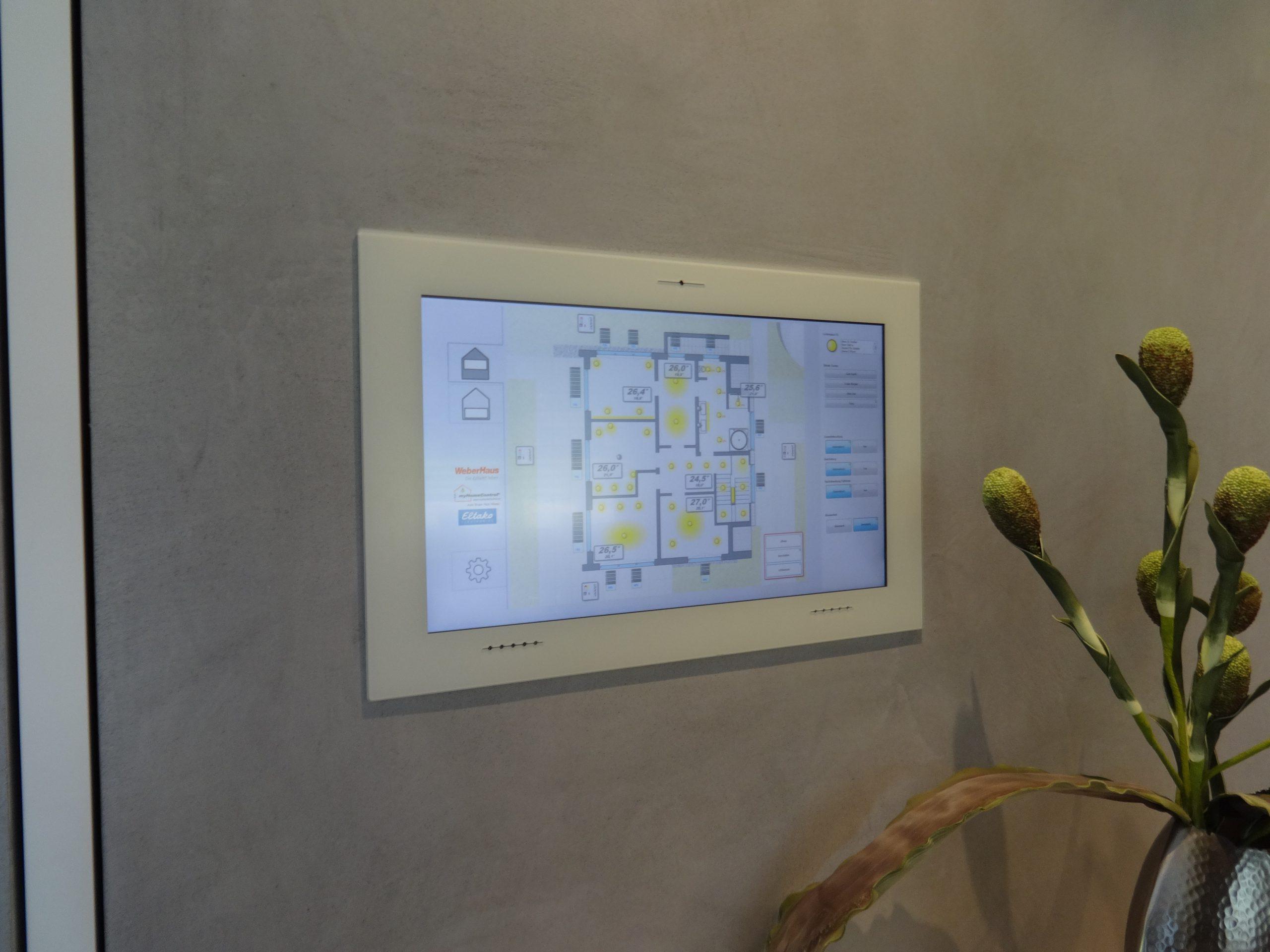 Touch-Panel Bedienung für smarte Beleuchtung Smart Homes mit myHomeControl