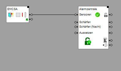 Funktionale Einbindung des Fensterkontakts in myHomeControl
